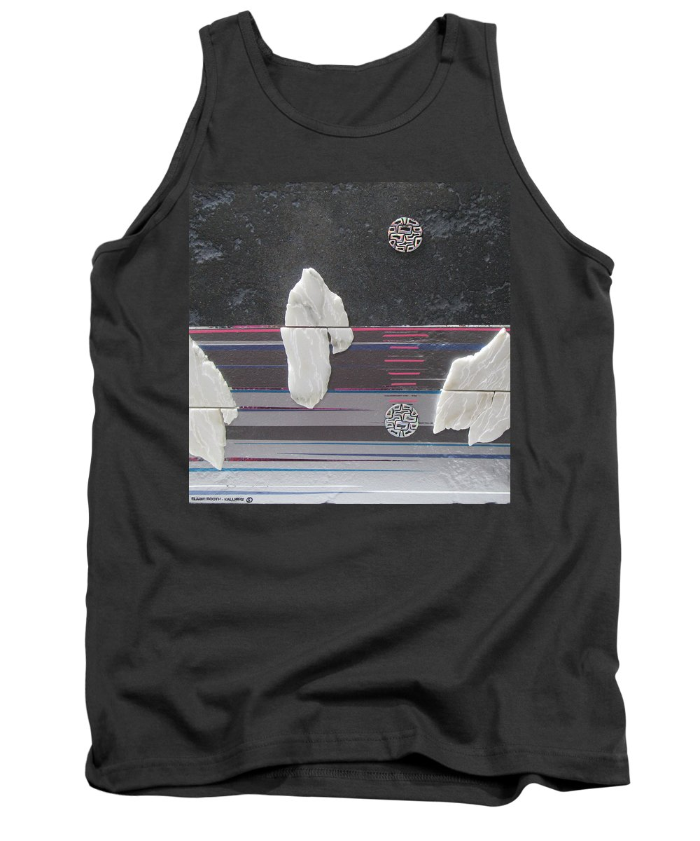 Assemblage Tank Top featuring the mixed media Ice Bergs by Elaine Booth-Kallweit