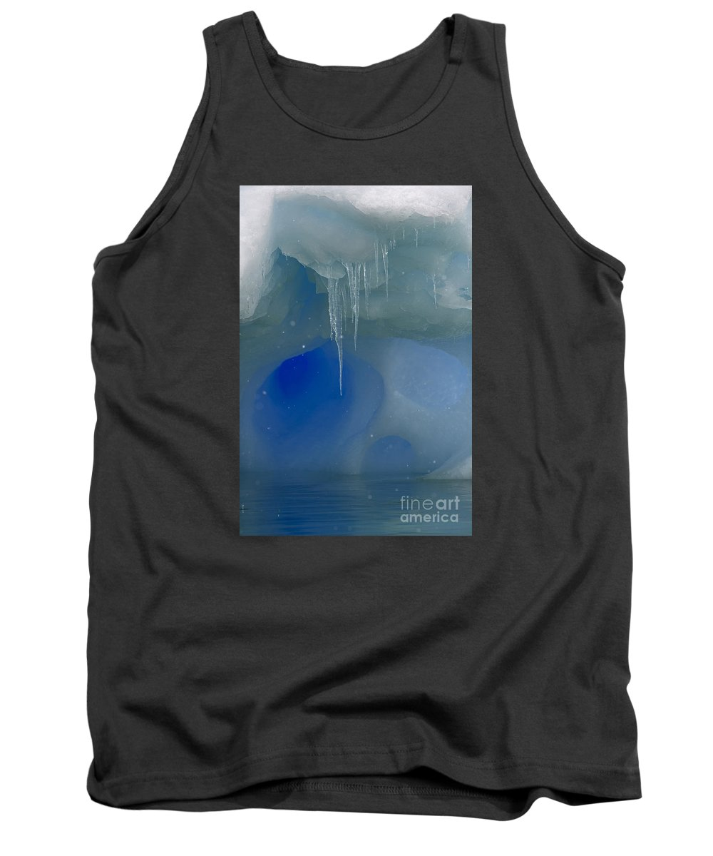 Festblues Tank Top featuring the photograph Ice Cold Fairytale... by Nina Stavlund