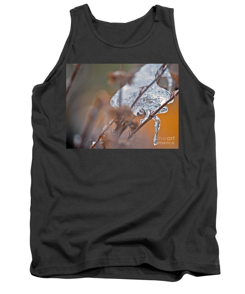 Cold Tank Top featuring the photograph Ice Drop by PatriZio M Busnel