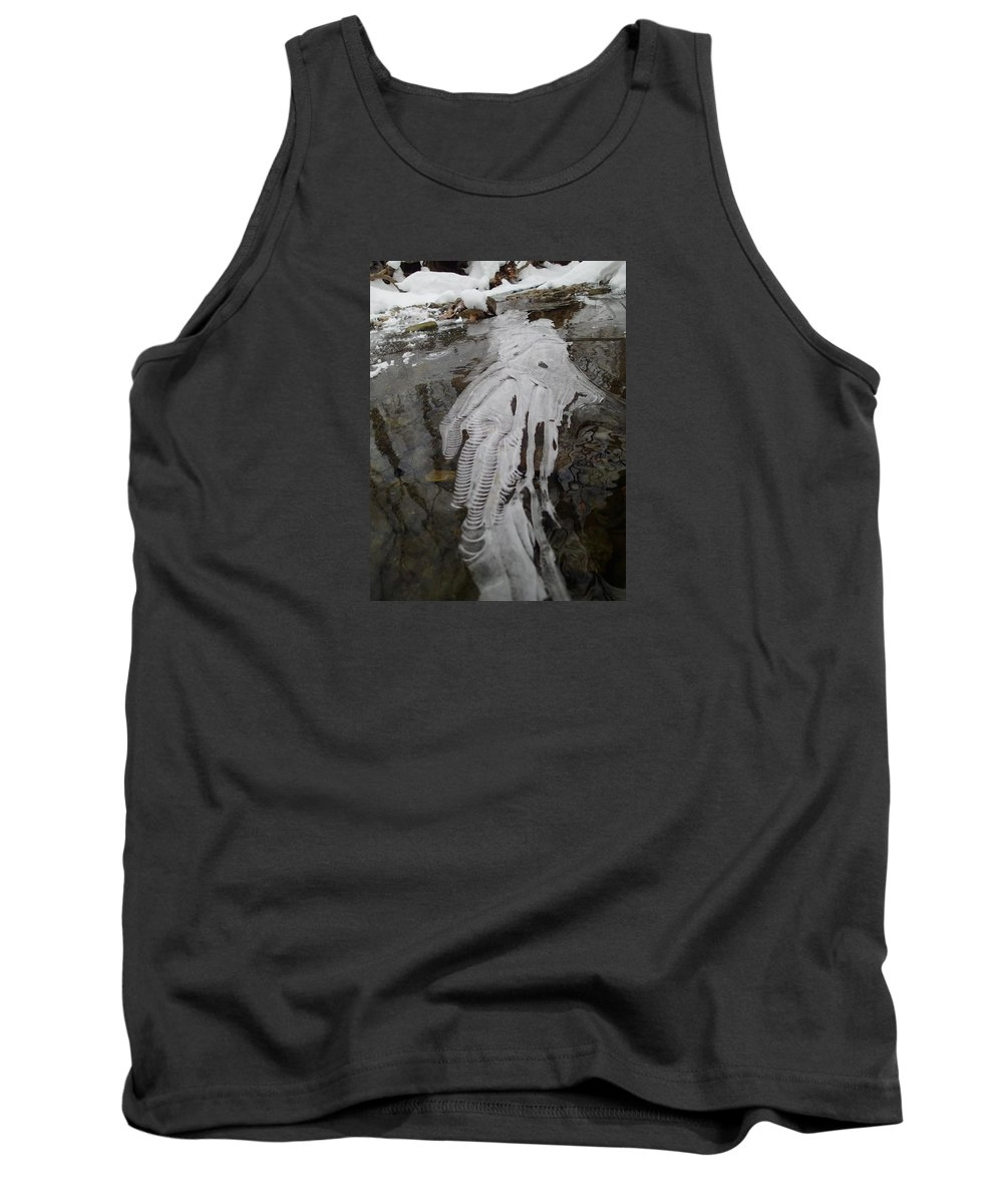 Ice Tank Top featuring the photograph Ice Flow 7 by Robert Nickologianis