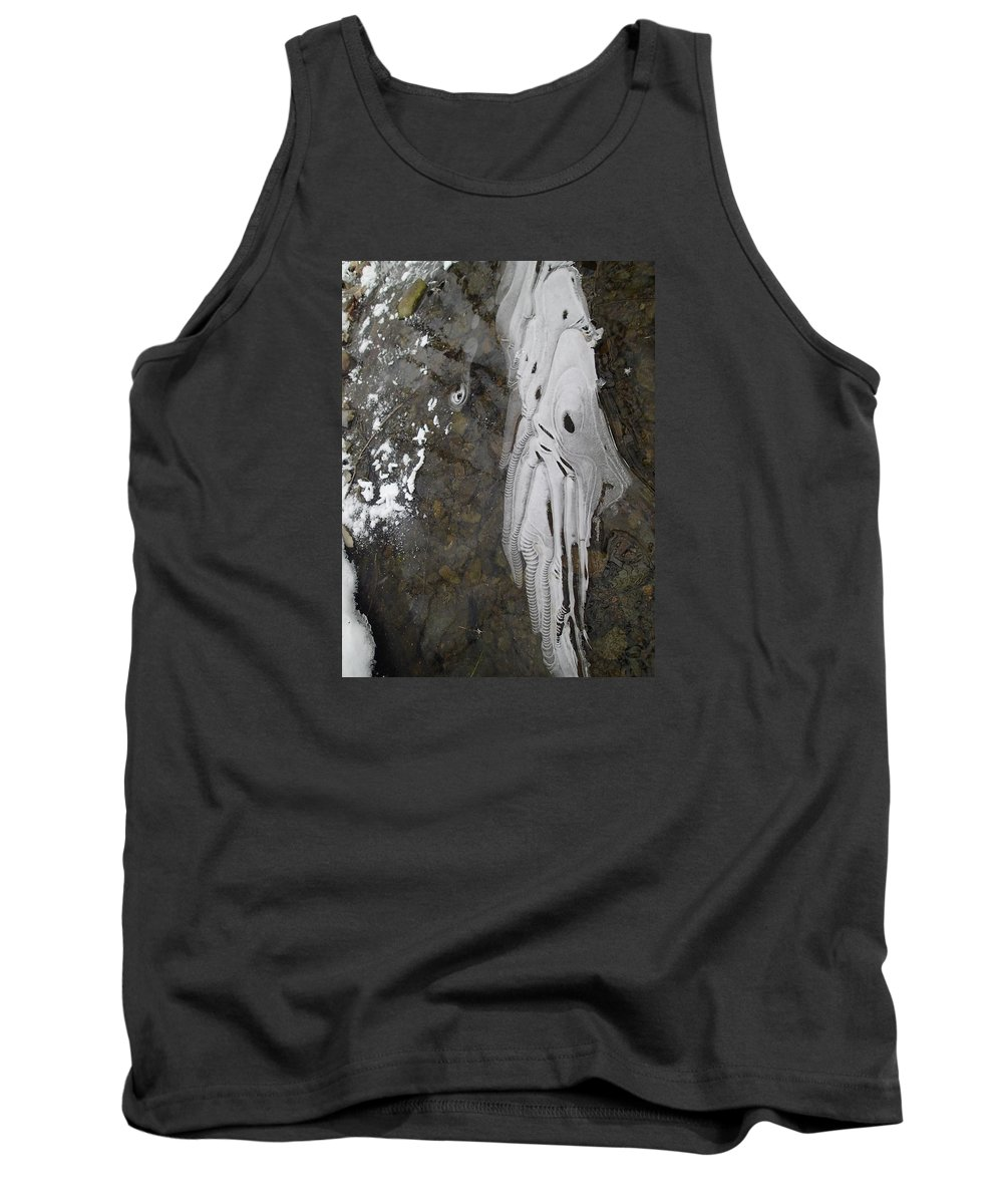 Ice Tank Top featuring the photograph Ice Flow 8 by Robert Nickologianis
