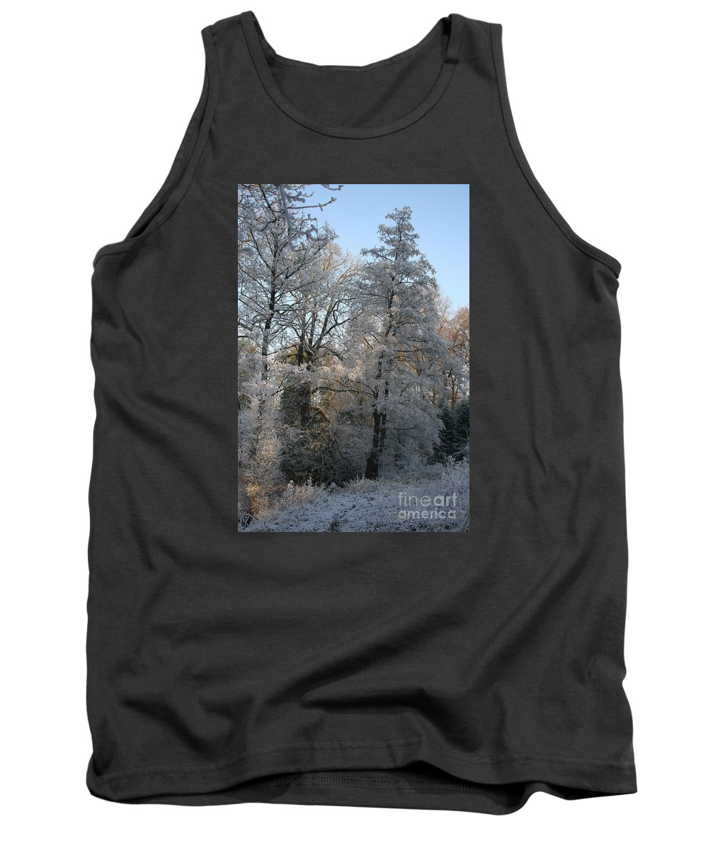 Ice Tank Top featuring the photograph Iced Trees by Christiane Schulze Art And Photography