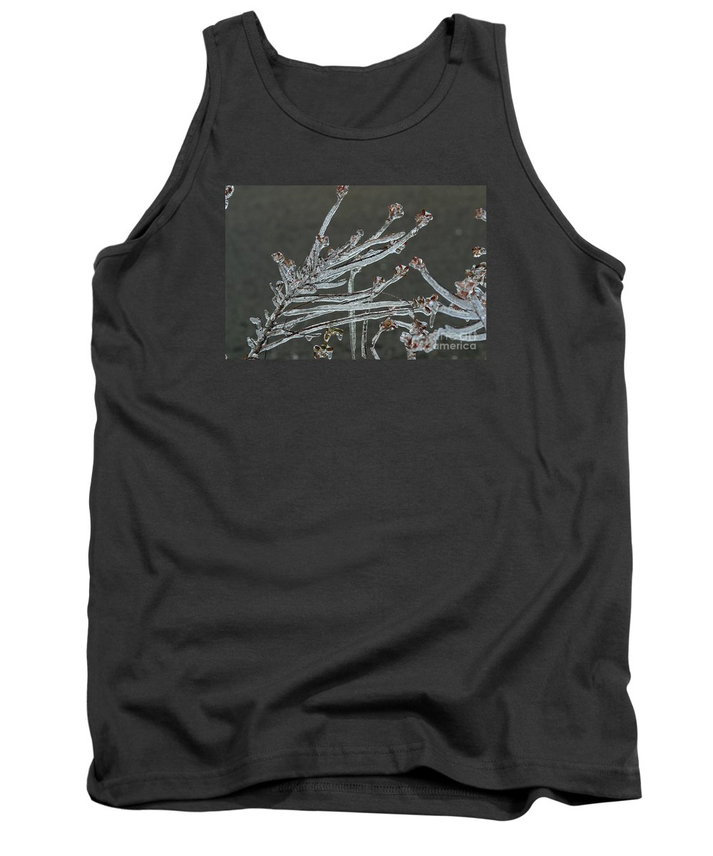 Ice Tank Top featuring the photograph Icy Branch-7474 by Gary Gingrich Galleries