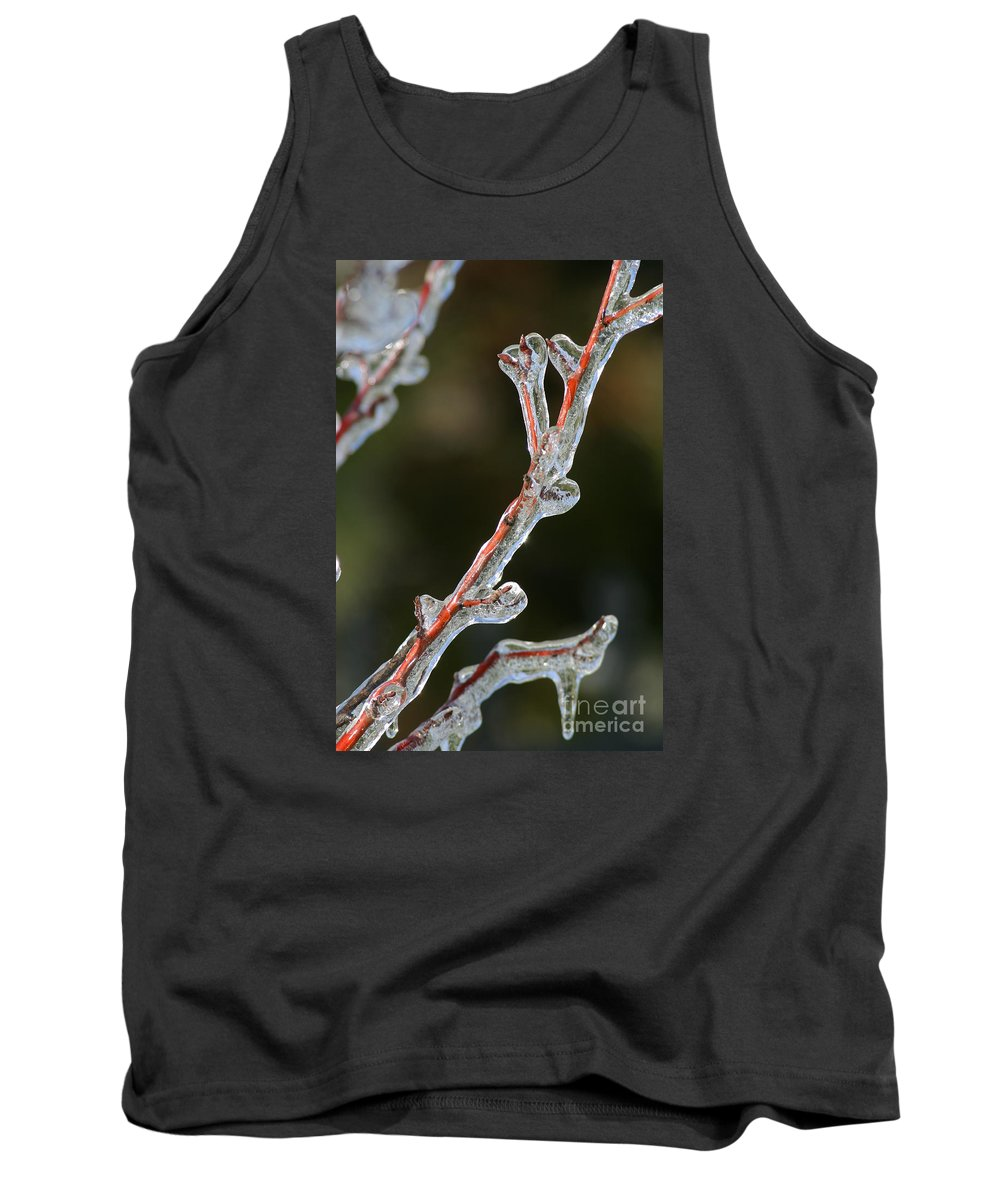 Ice Tank Top featuring the photograph Icy Branch-7512 by Gary Gingrich Galleries
