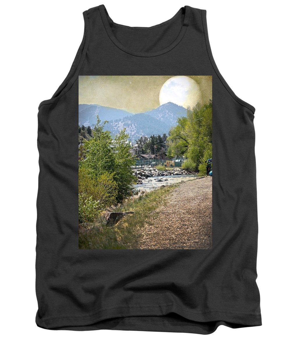 Moon Tank Top featuring the photograph Idaho Springs Paradise by Judy Hall-Folde