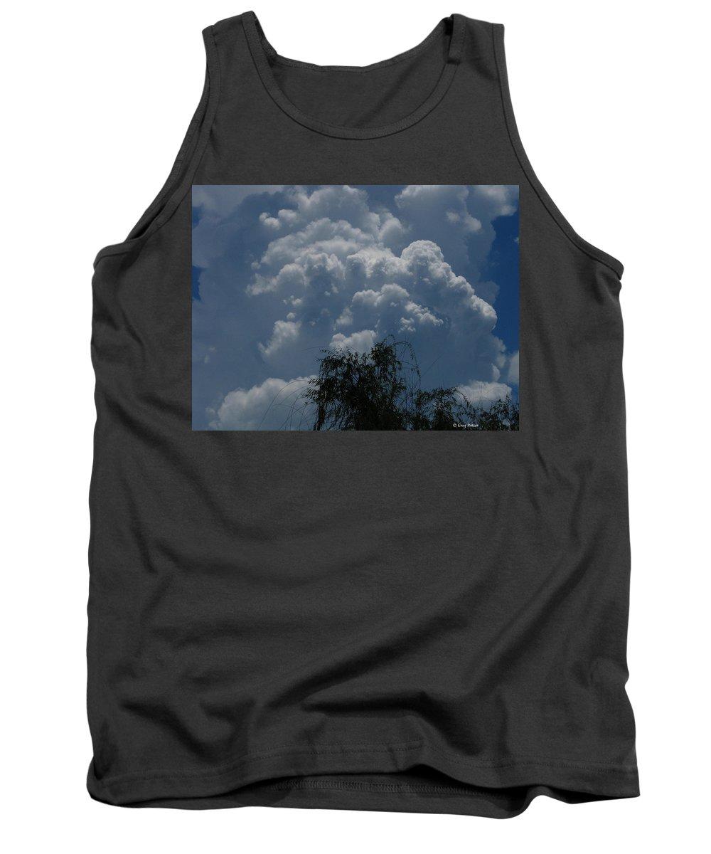 Patzer Tank Top featuring the photograph I'm Thinking Rain by Greg Patzer