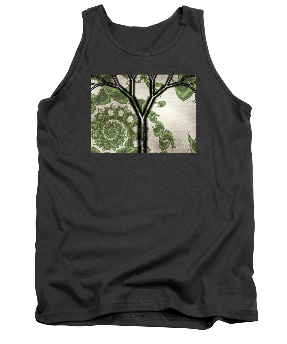 In Like A Lion Tank Top featuring the digital art In Like A Lion by Kimberly Hansen