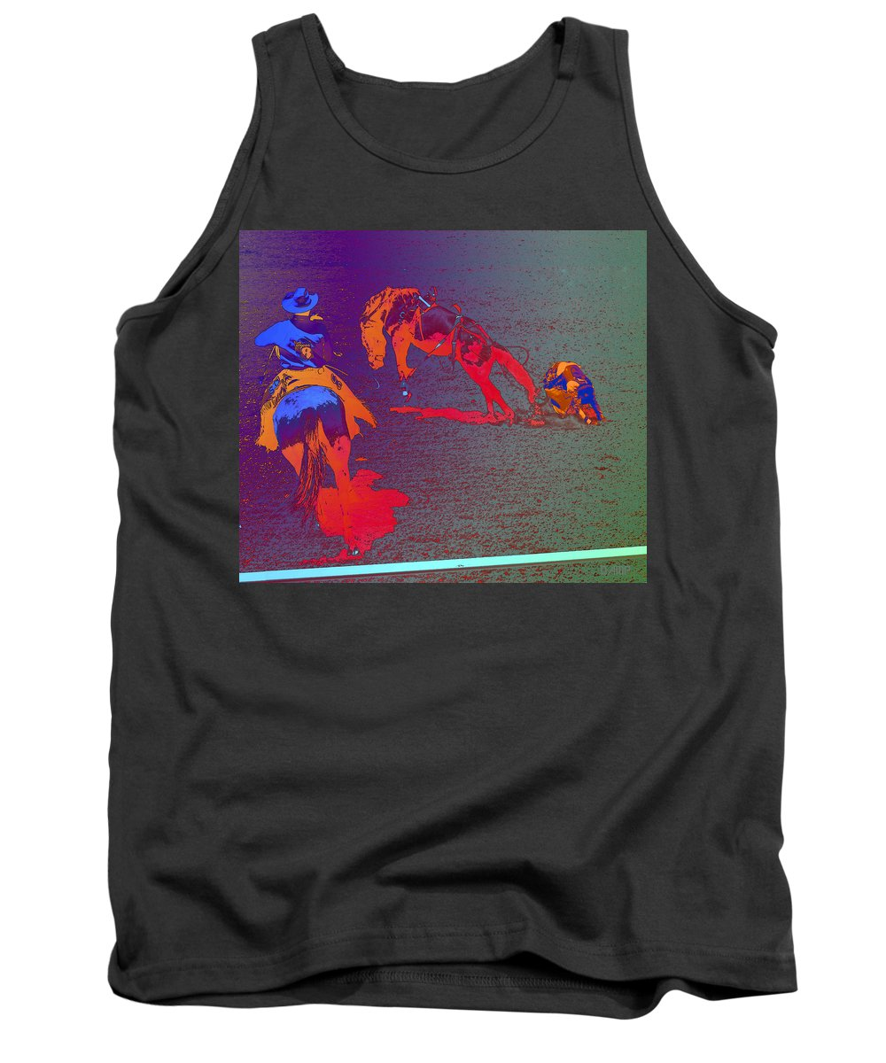 Rodeo Tank Top featuring the photograph In The Dirt Again by David Pantuso