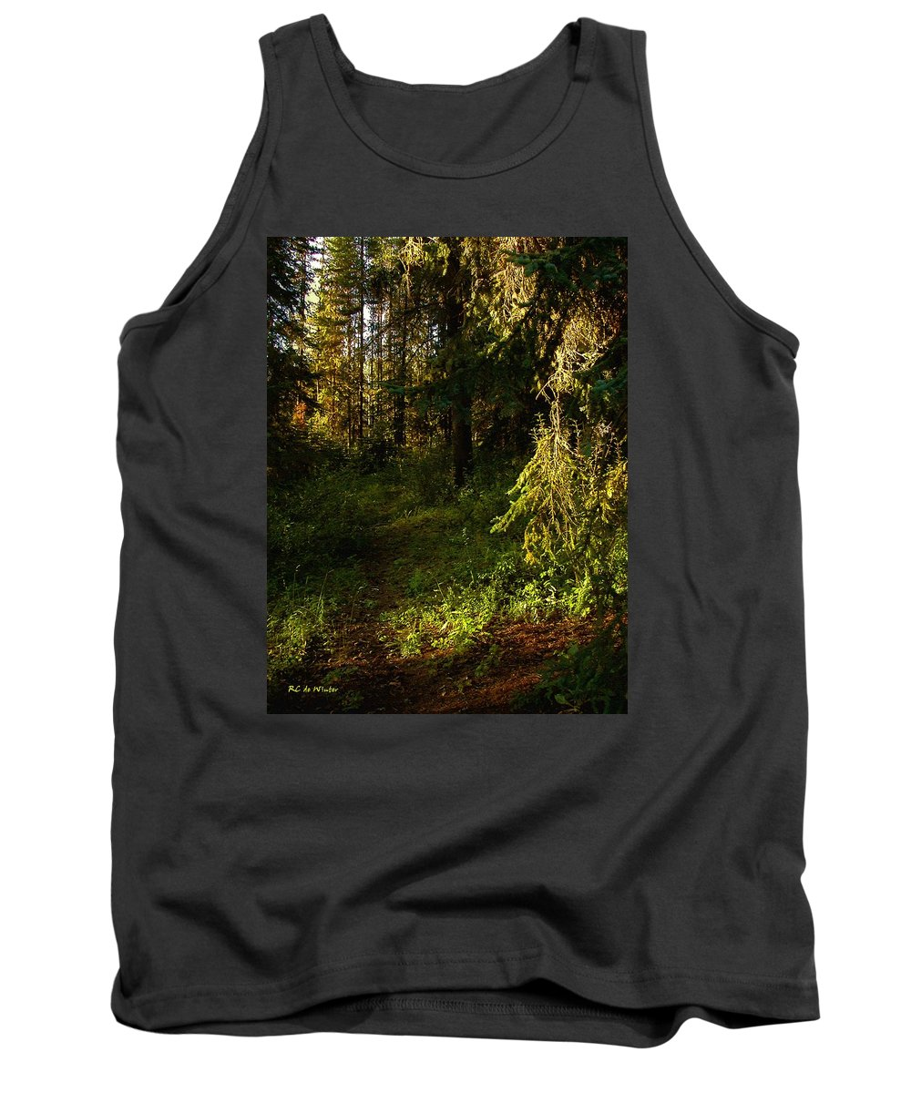 Landscape Tank Top featuring the painting In The Druid Cathedral by RC DeWinter