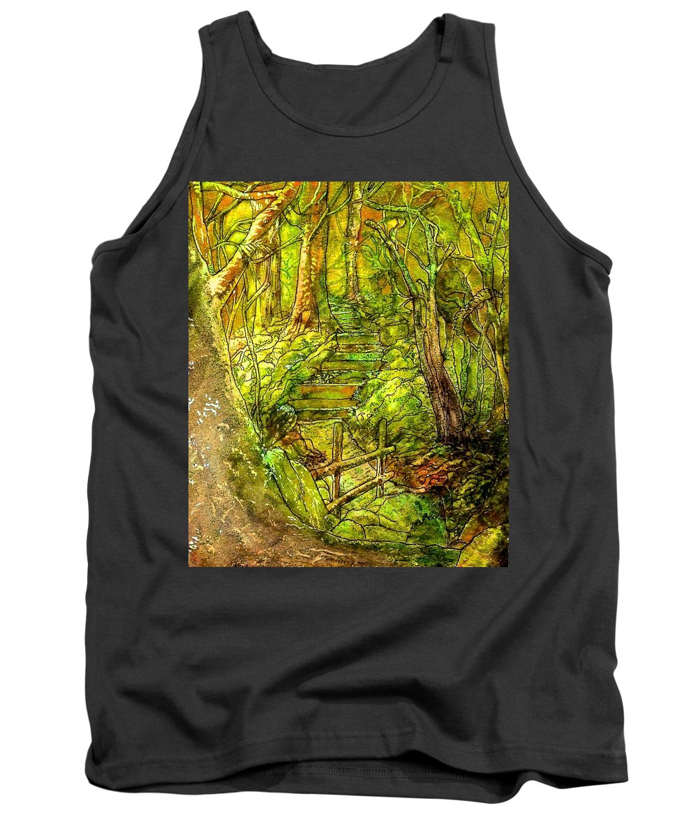 Forest Tank Top featuring the painting In The Heart Of The Forest by Emma Childs