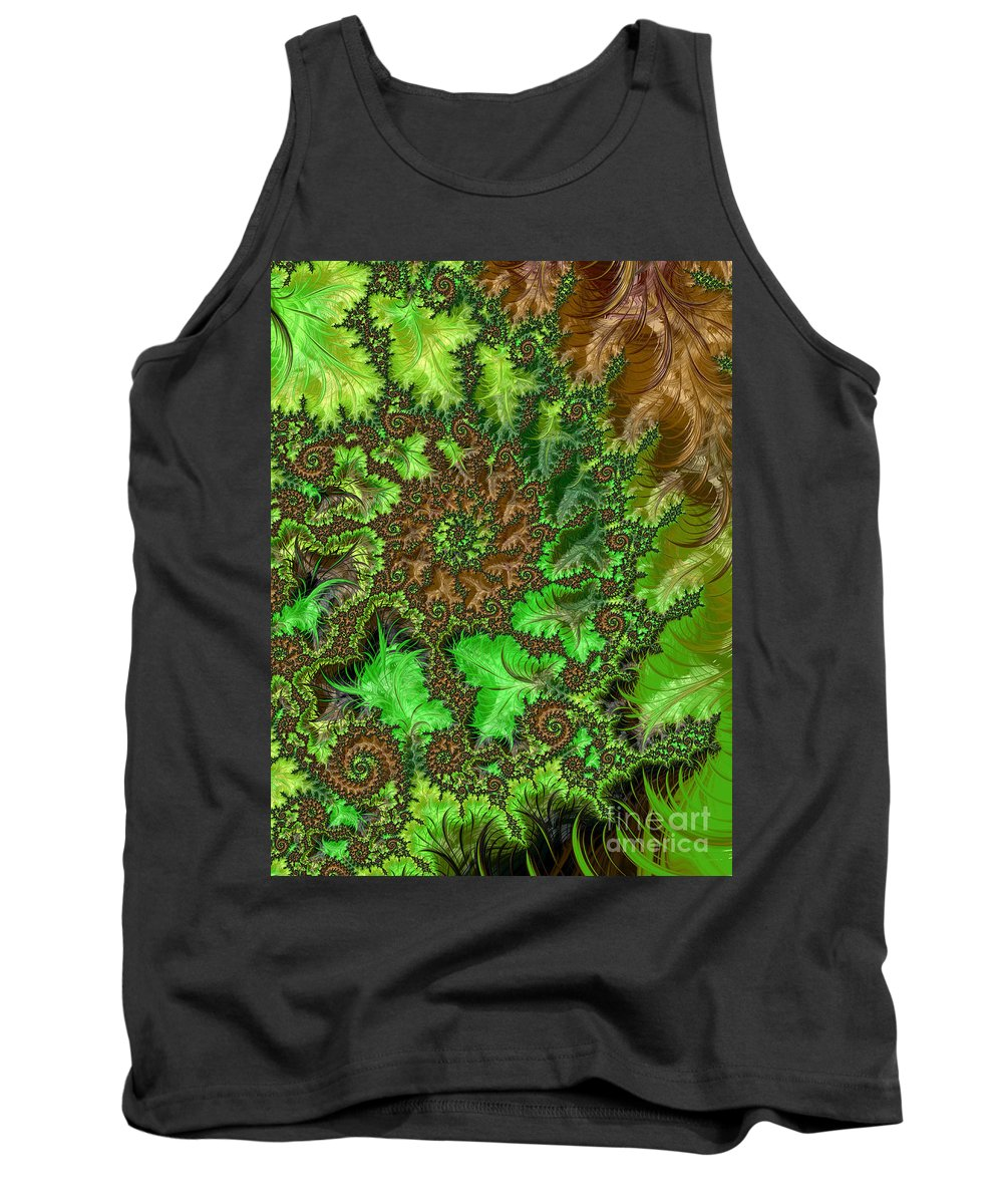 Abstract Tank Top featuring the digital art In The Jungle by Heidi Smith