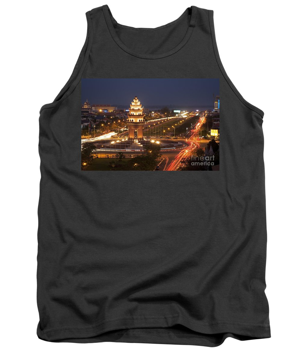 Independence Monument Tank Top featuring the photograph Independence Monument, Cambodia by David Davis