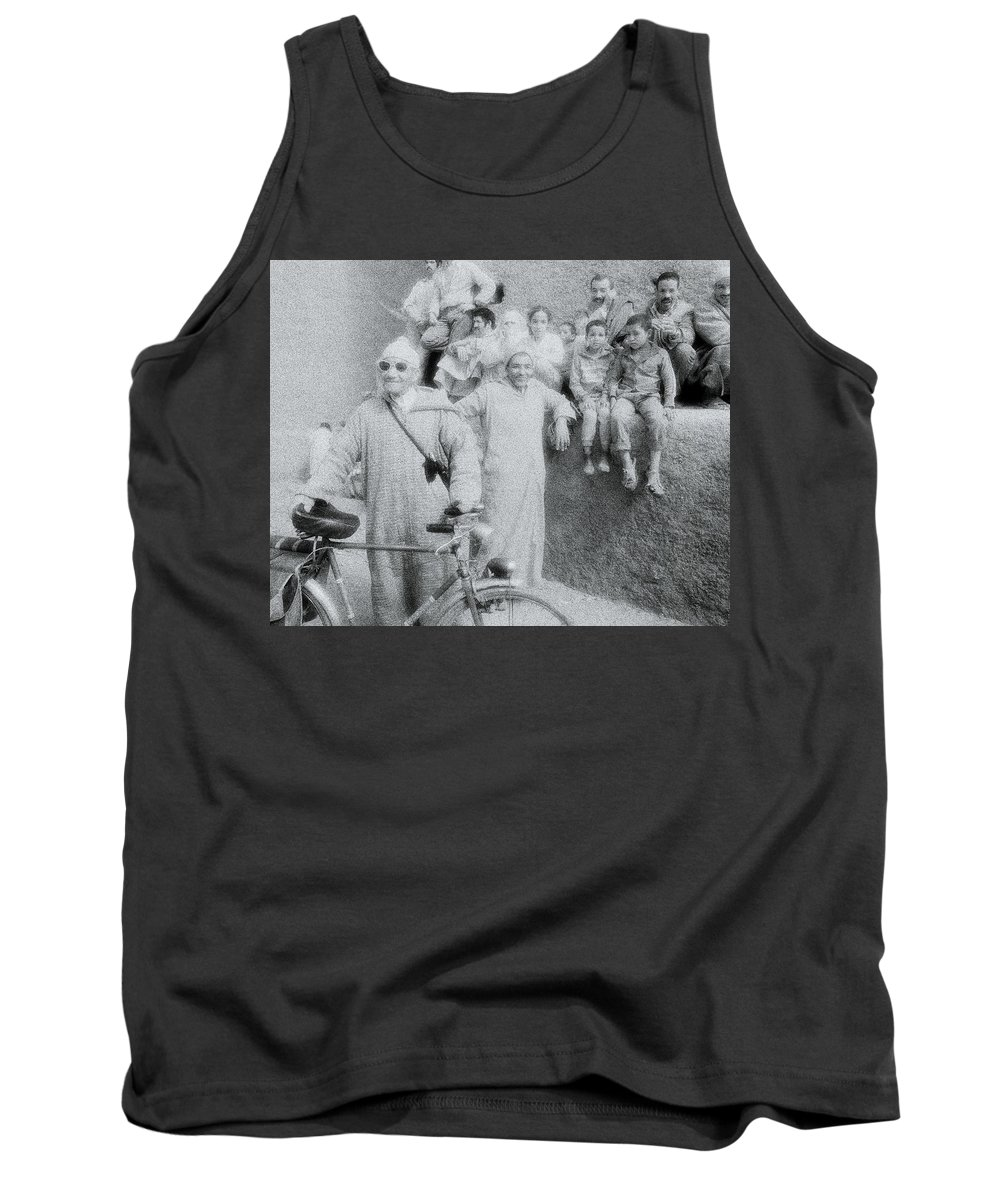 Individuality Tank Top featuring the photograph The Cyclist by Shaun Higson