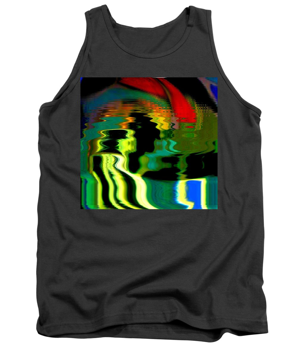 Abstract Tank Top featuring the photograph Infinity Rainbow River 1 by Cj Carroll
