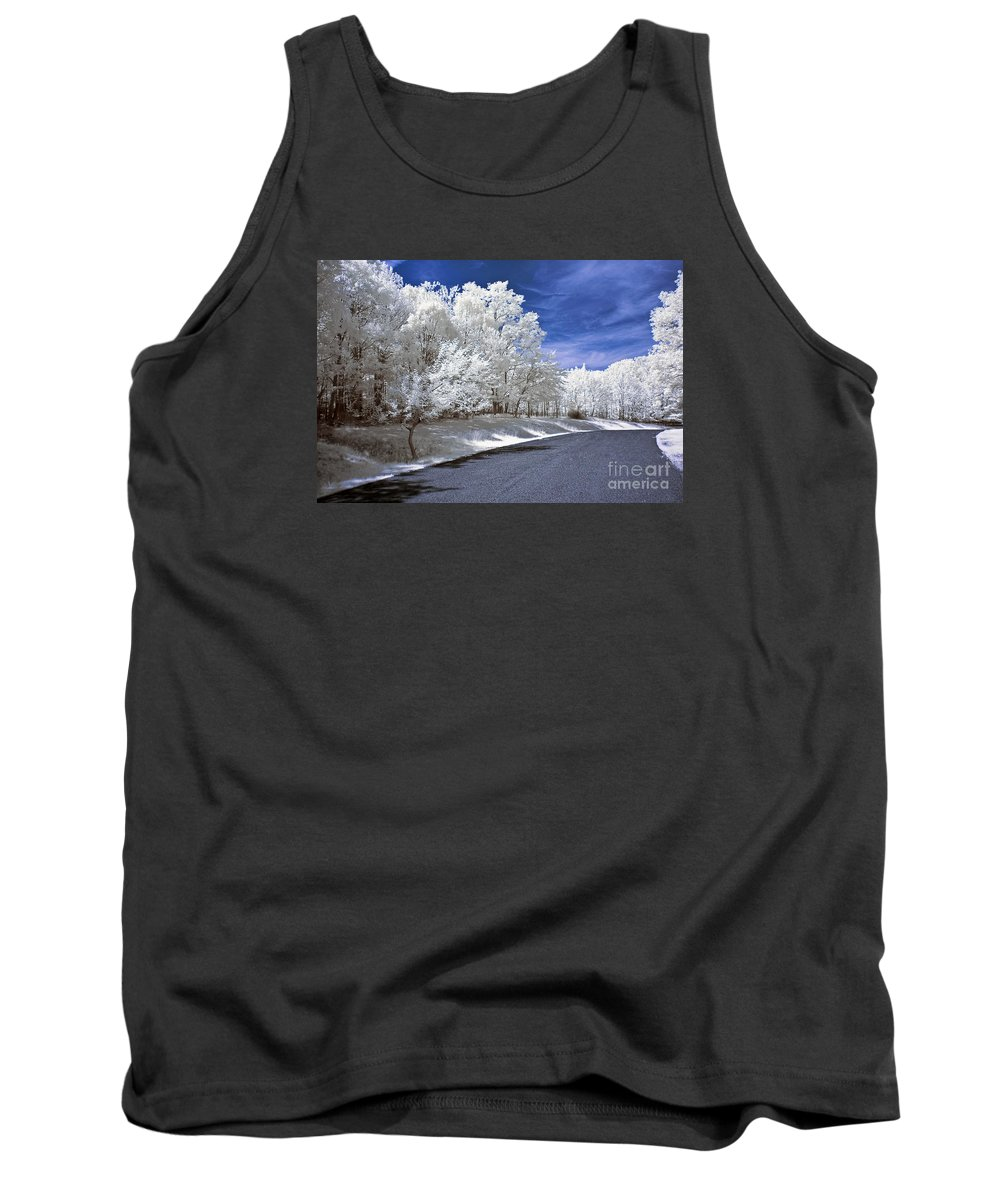Landscape Tank Top featuring the photograph Infrared Road by Anthony Sacco