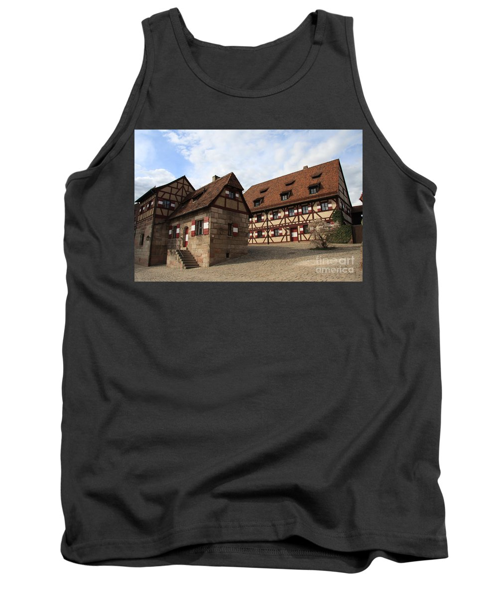 Inneryard Tank Top featuring the photograph Inneryard Kaiserburg - Nuremberg by Christiane Schulze Art And Photography