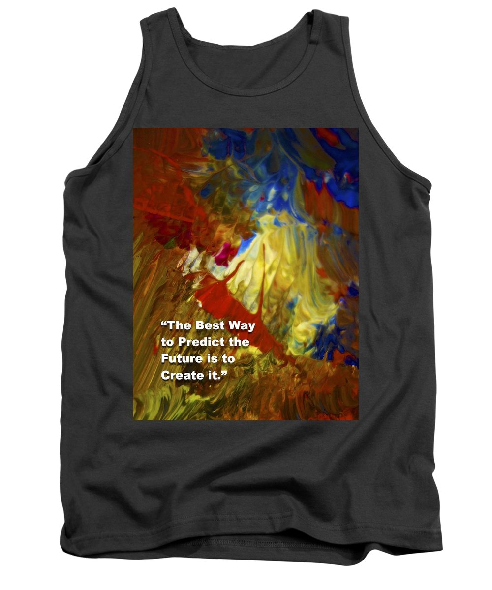 Inspirational Saying Tank Top featuring the painting Inspirational Saying by Joan Reese
