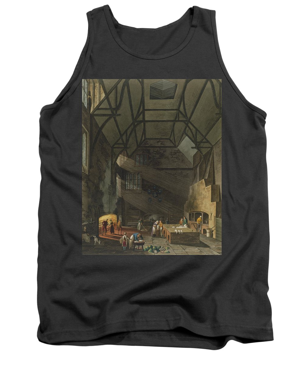 Beam Tank Top featuring the drawing Interior Of The Kitchen, Trinity by William Henry Pyne