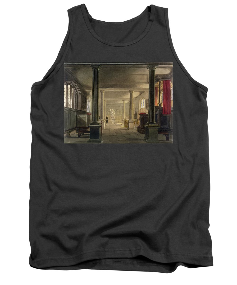 Fluted Column Tank Top featuring the drawing Interior Of The Law School, Cambridge by Frederick Mackenzie