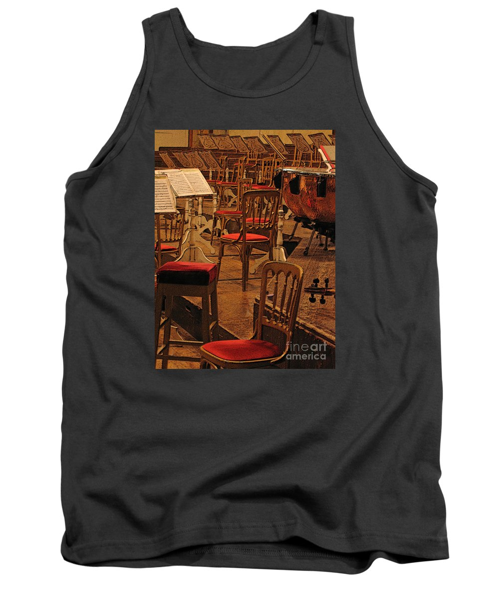 Music Tank Top featuring the photograph Intermission by Ann Horn