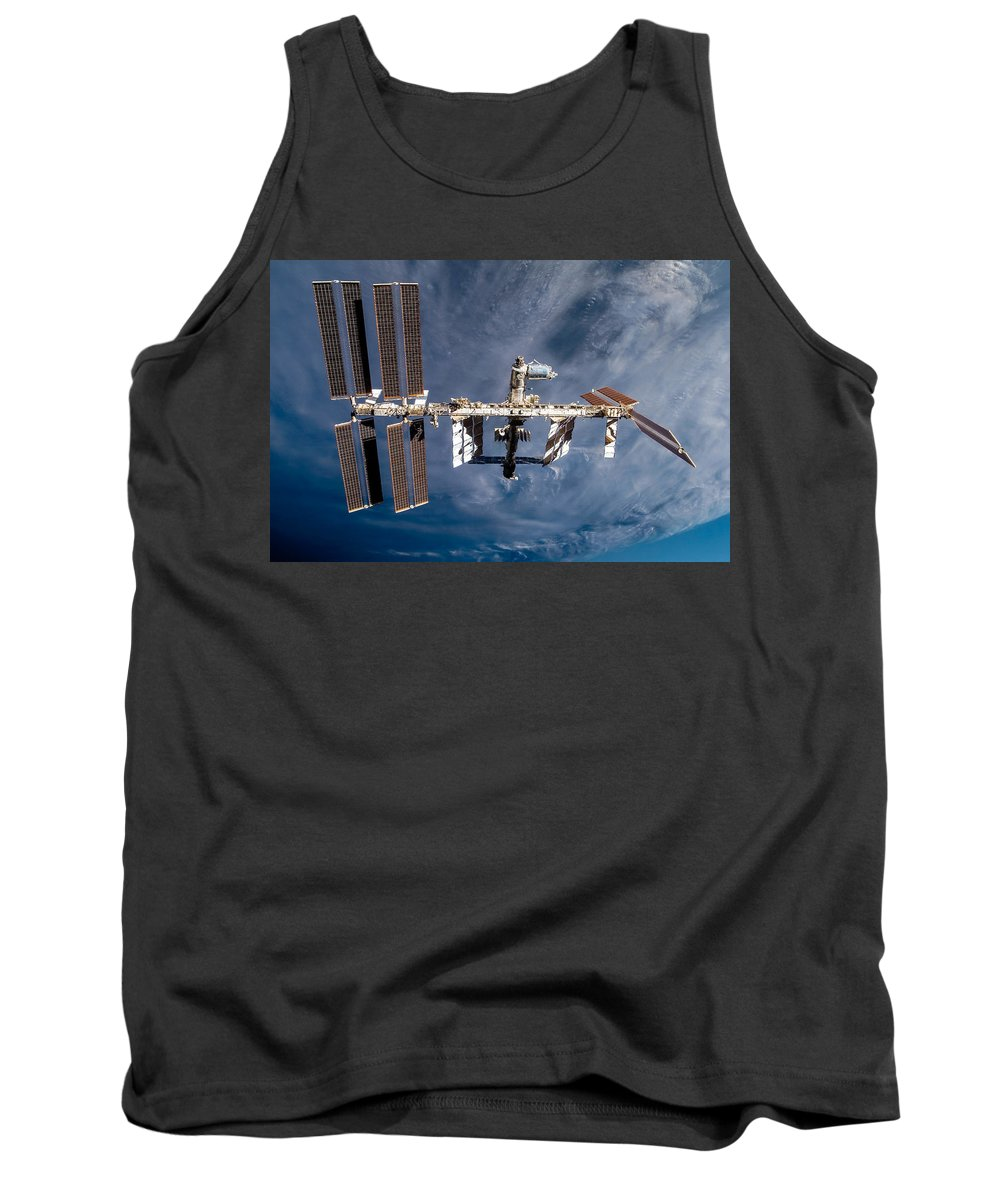 International Tank Top featuring the photograph International Space Station by Chad Rowe