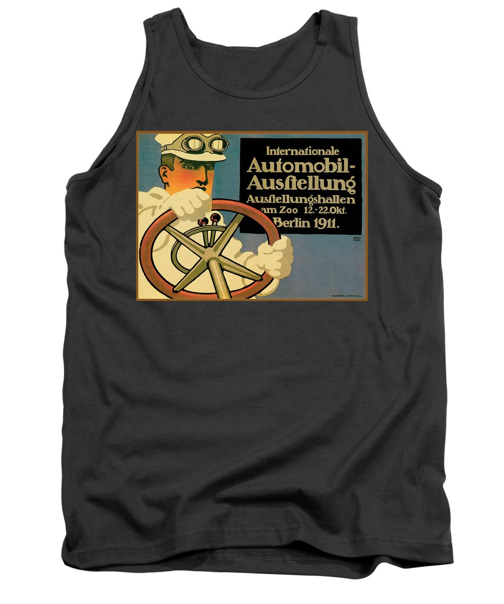 Vintage Automobile Ads And Posters Tank Top featuring the photograph Internationale Automobile Ausftellung by Vintage Automobile Ads and Posters