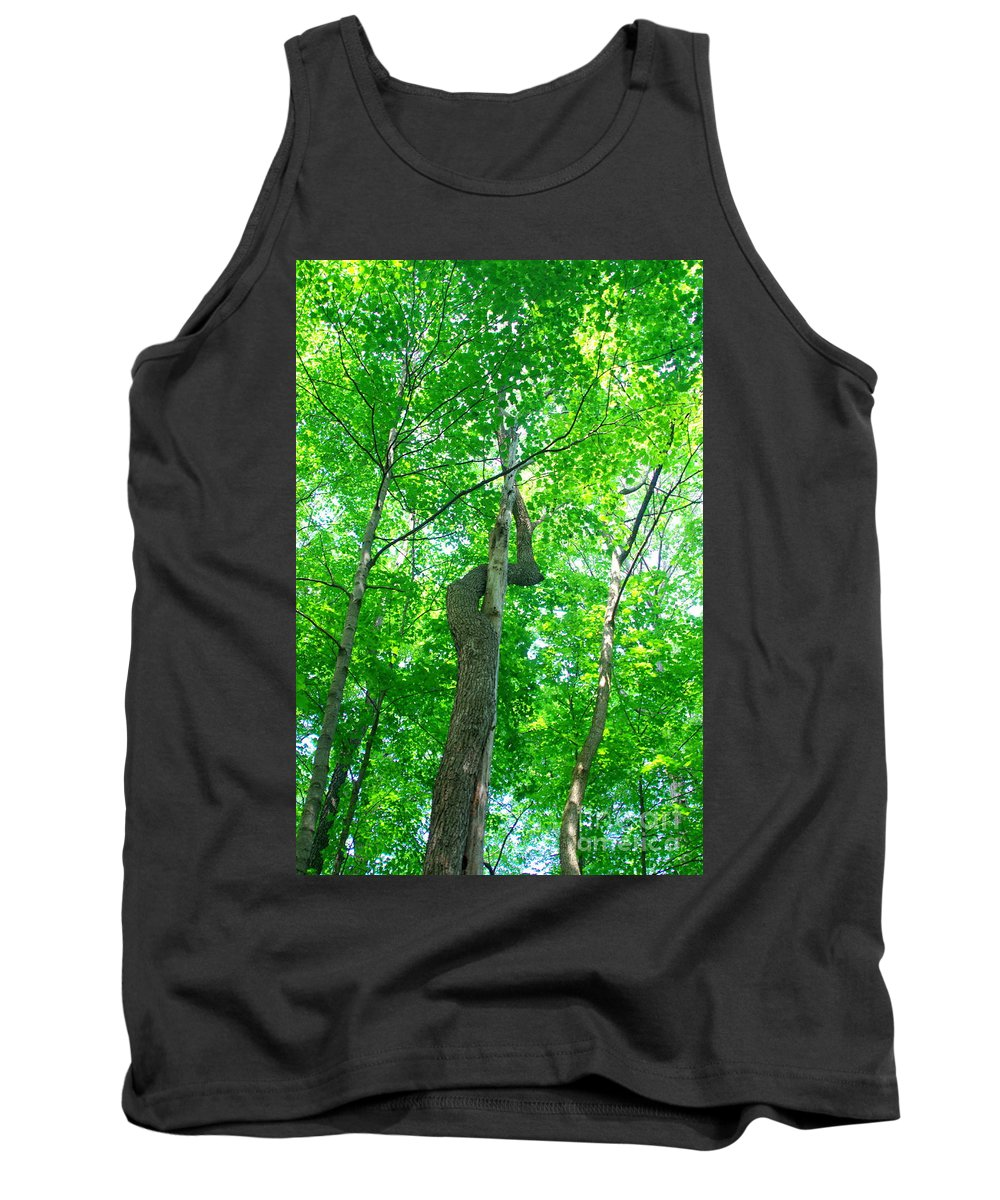 Trees Growing Together Tank Top featuring the photograph Intertwined by Kitrina Arbuckle