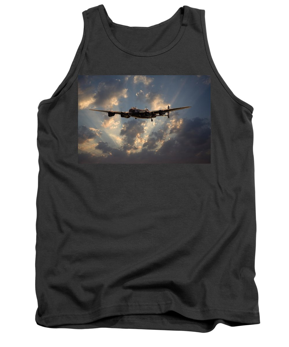 Aircraft Tank Top featuring the digital art Into The Night by Pat Speirs