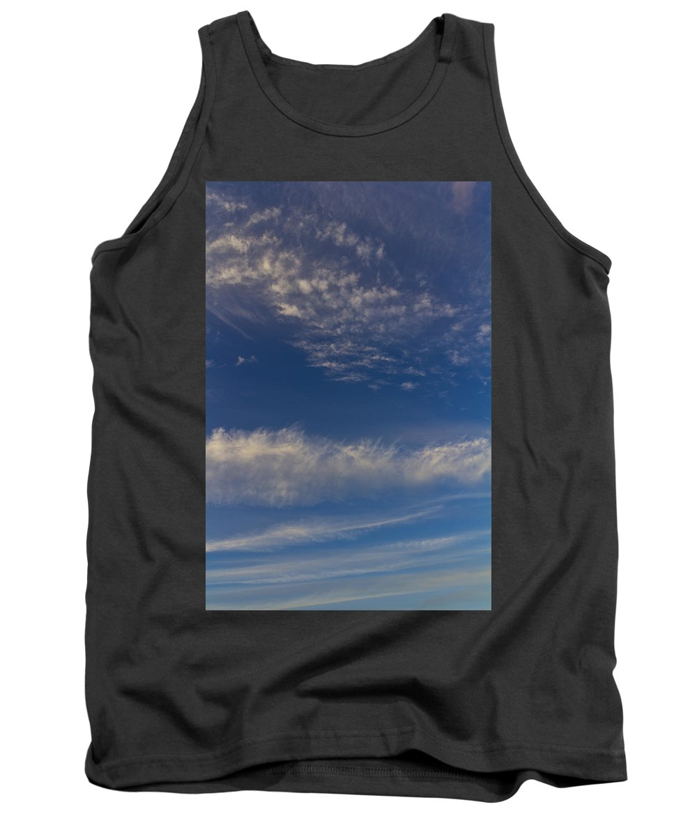 Swirling Clouds Tank Top featuring the photograph Into The Sky by David Pyatt