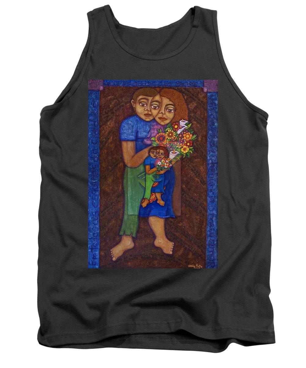Invention Of Love Tank Top featuring the painting Invention Of Love by Madalena Lobao-Tello