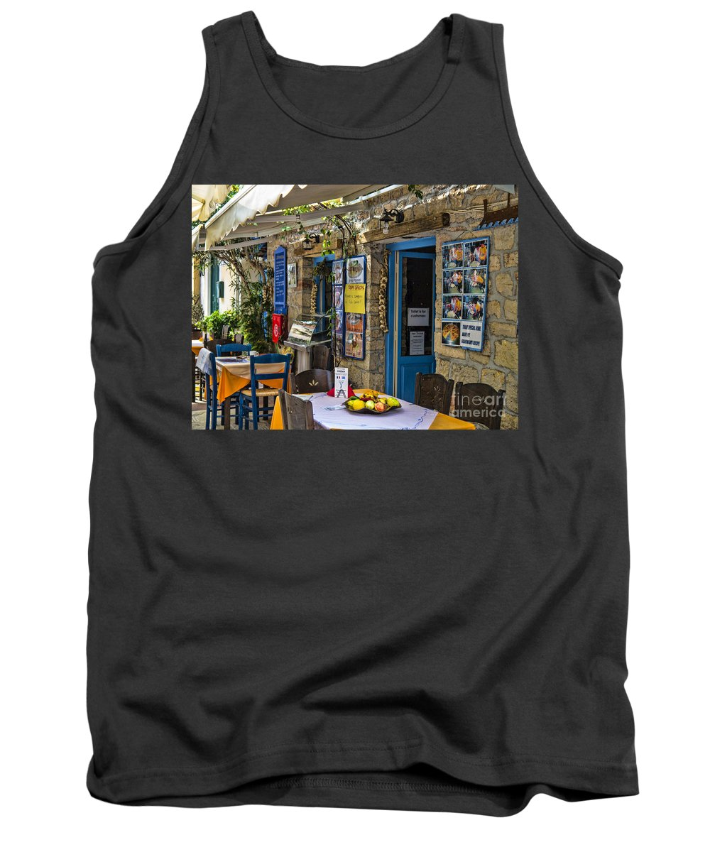 Kefalonia Tank Top featuring the photograph Inviting by Gillian Singleton