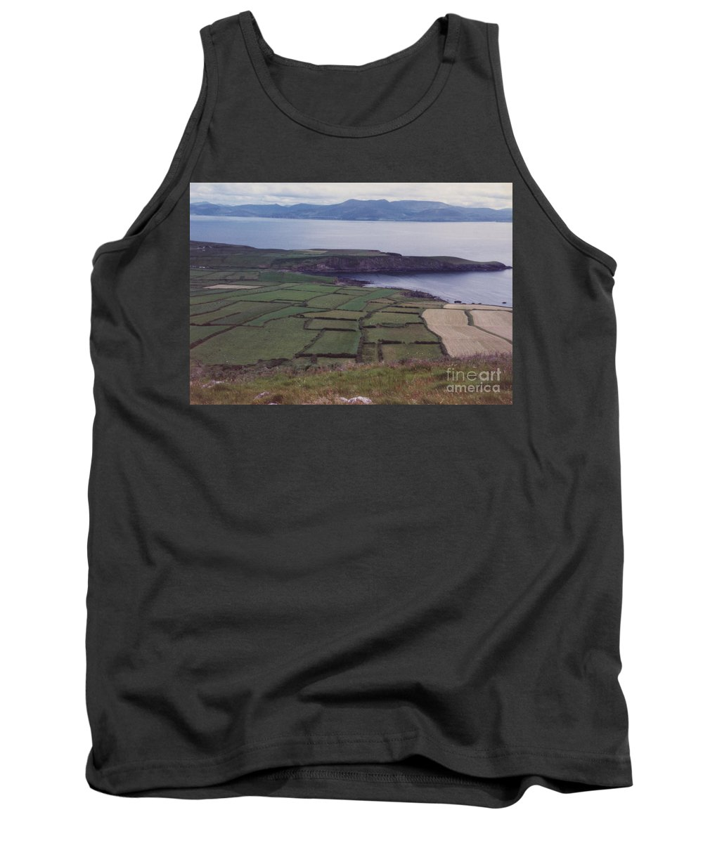 Ireland Tank Top featuring the photograph Ireland Emerald Isle Fields By Jrr by First Star Art