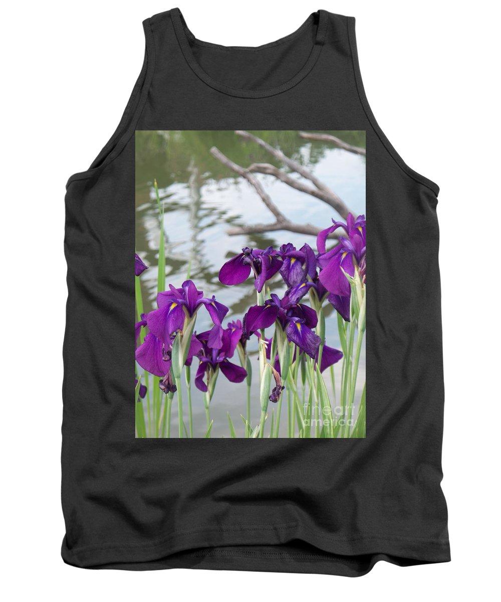 Iris Tank Top featuring the photograph Iris Purple Lavender by Eric Schiabor