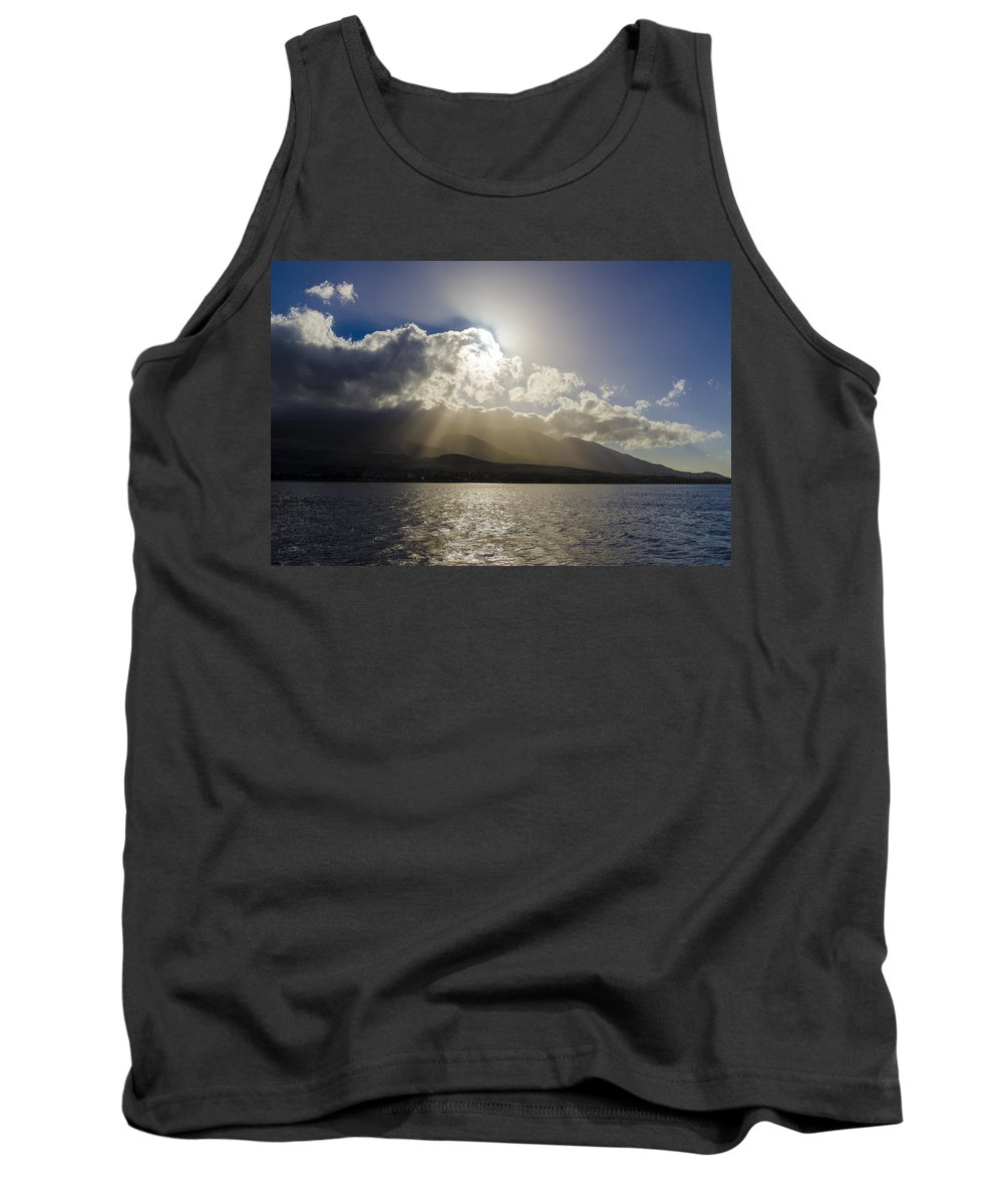 Ocean Tank Top featuring the photograph Island Sunset by Daniel Murphy
