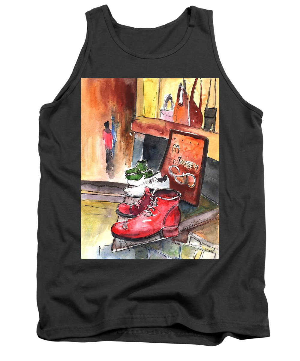 Italy Tank Top featuring the painting Italian Shoes 05 by Miki De Goodaboom