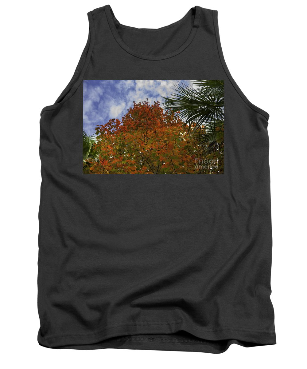 Maple Leaf Tank Top featuring the photograph It's Fall Ya'll by Dale Powell