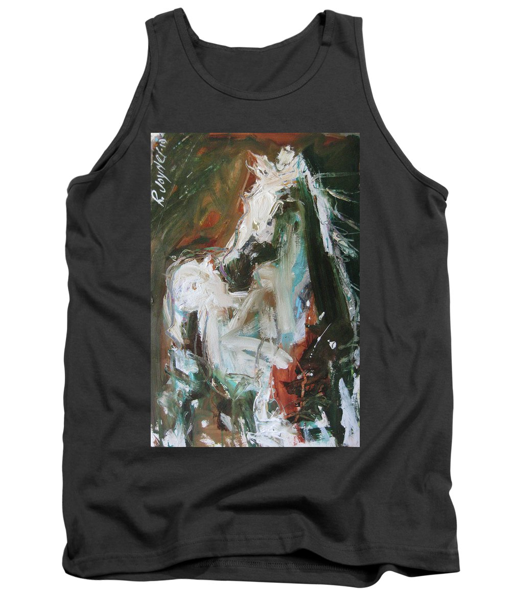 Original Horse Painting For Sale Tank Top featuring the painting Ivory by Robert Joyner