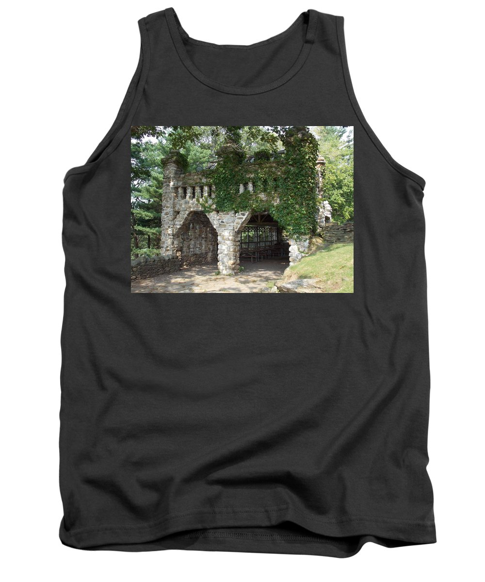 Stone Work Tank Top featuring the photograph Ivy Covered Stone Wall by Catherine Gagne