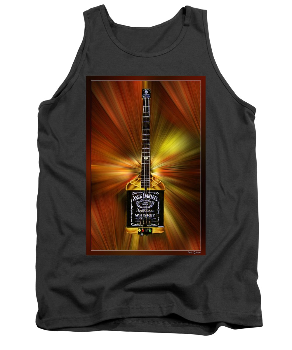 Whiskey Guitar Tank Top featuring the photograph Jack Daniels Whiskey Guitar by Blake Richards