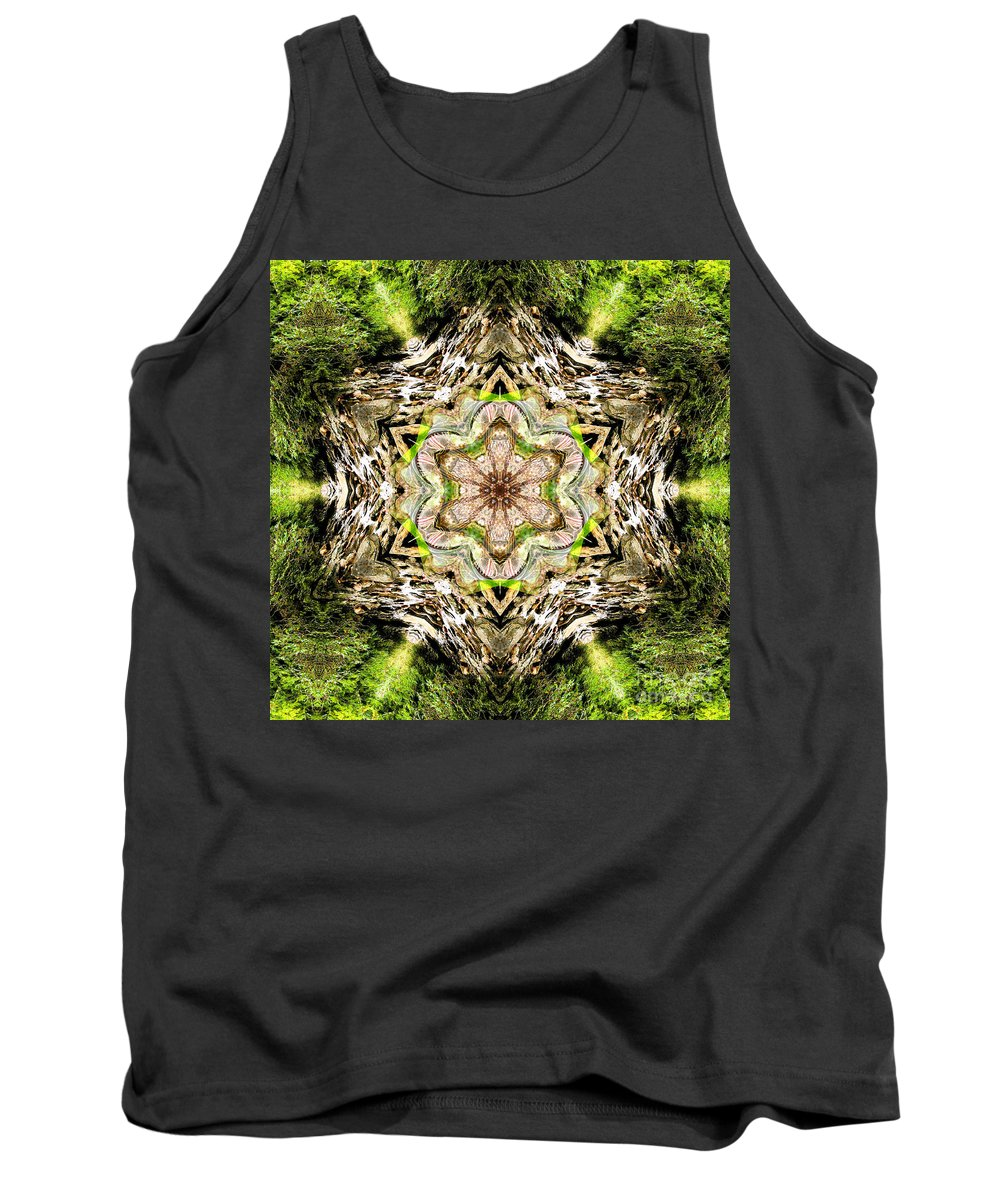 Rainbow Tank Top featuring the photograph Jack In The Pulpit Mandala by Susan Bloom