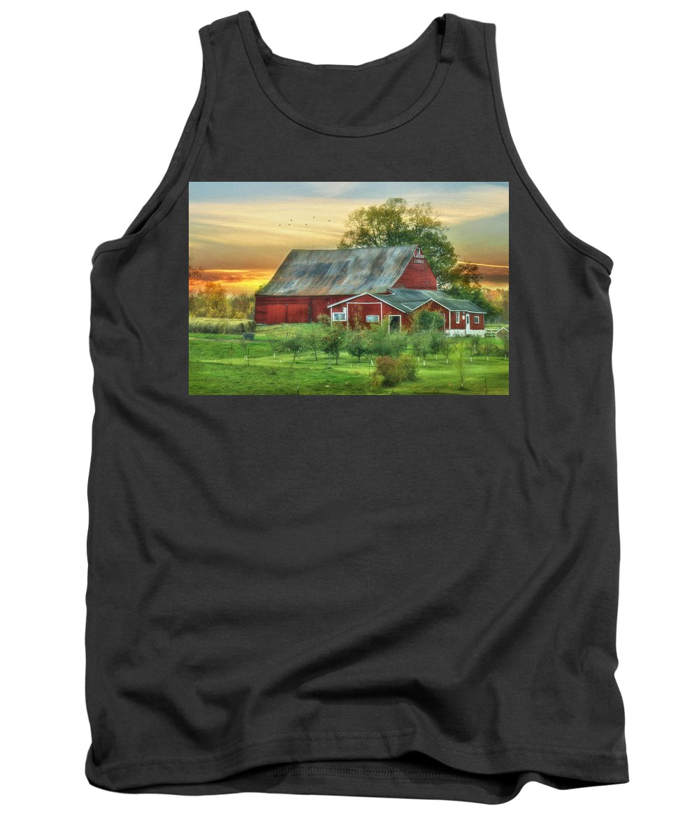 Barn Tank Top featuring the photograph Jackson Orchard by Lori Deiter