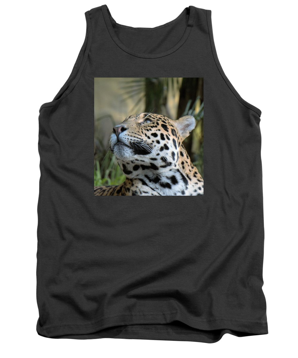 Big Cat Tank Top featuring the photograph Jaguar Portrait by Mickey At Rawshutterbug