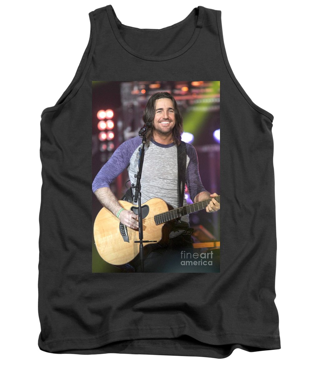 Performing Tank Top featuring the photograph Jake Owen by Concert Photos