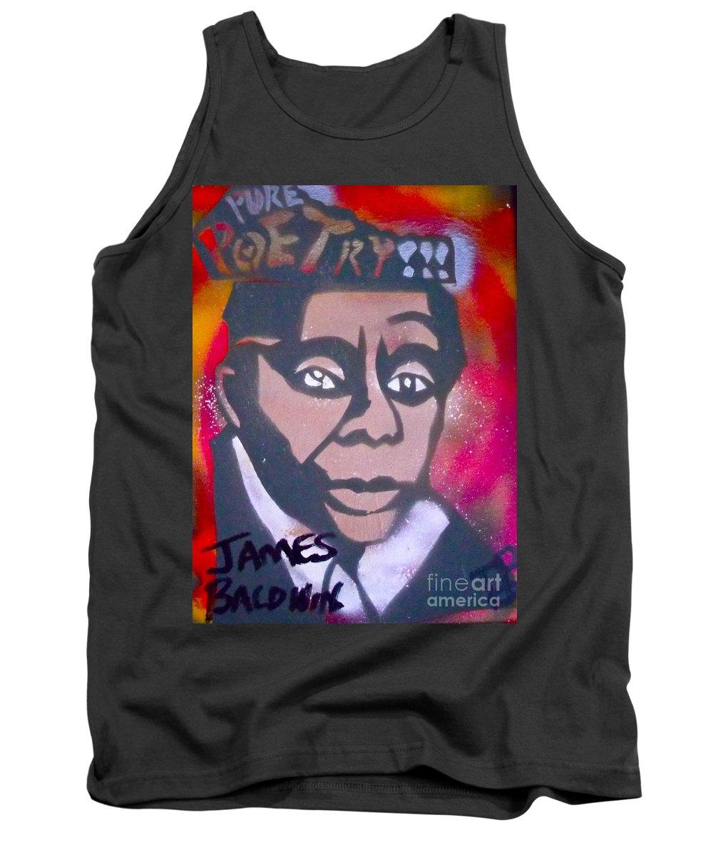 Langston Hughes Tank Top featuring the painting James Baldwin by Tony B Conscious