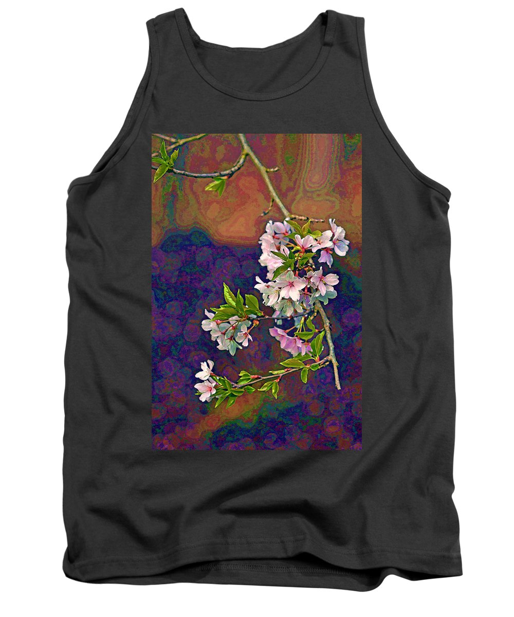 Cherry Tree Tank Top featuring the photograph Japanese Cherry Blossom Branch by Jerry Gammon