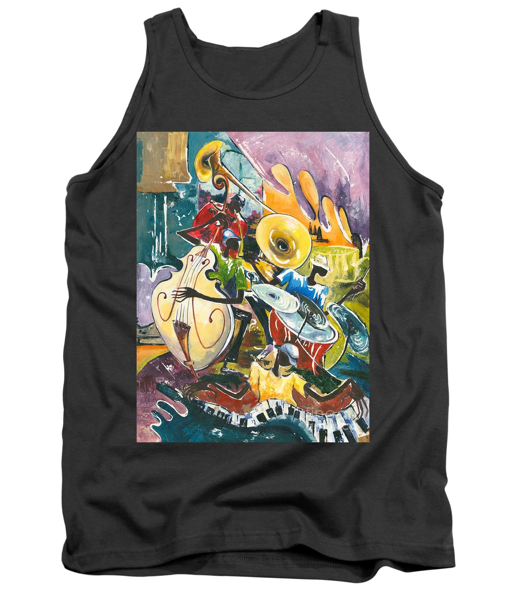 Acrylic Tank Top featuring the painting Jazz No. 4 by Elisabeta Hermann