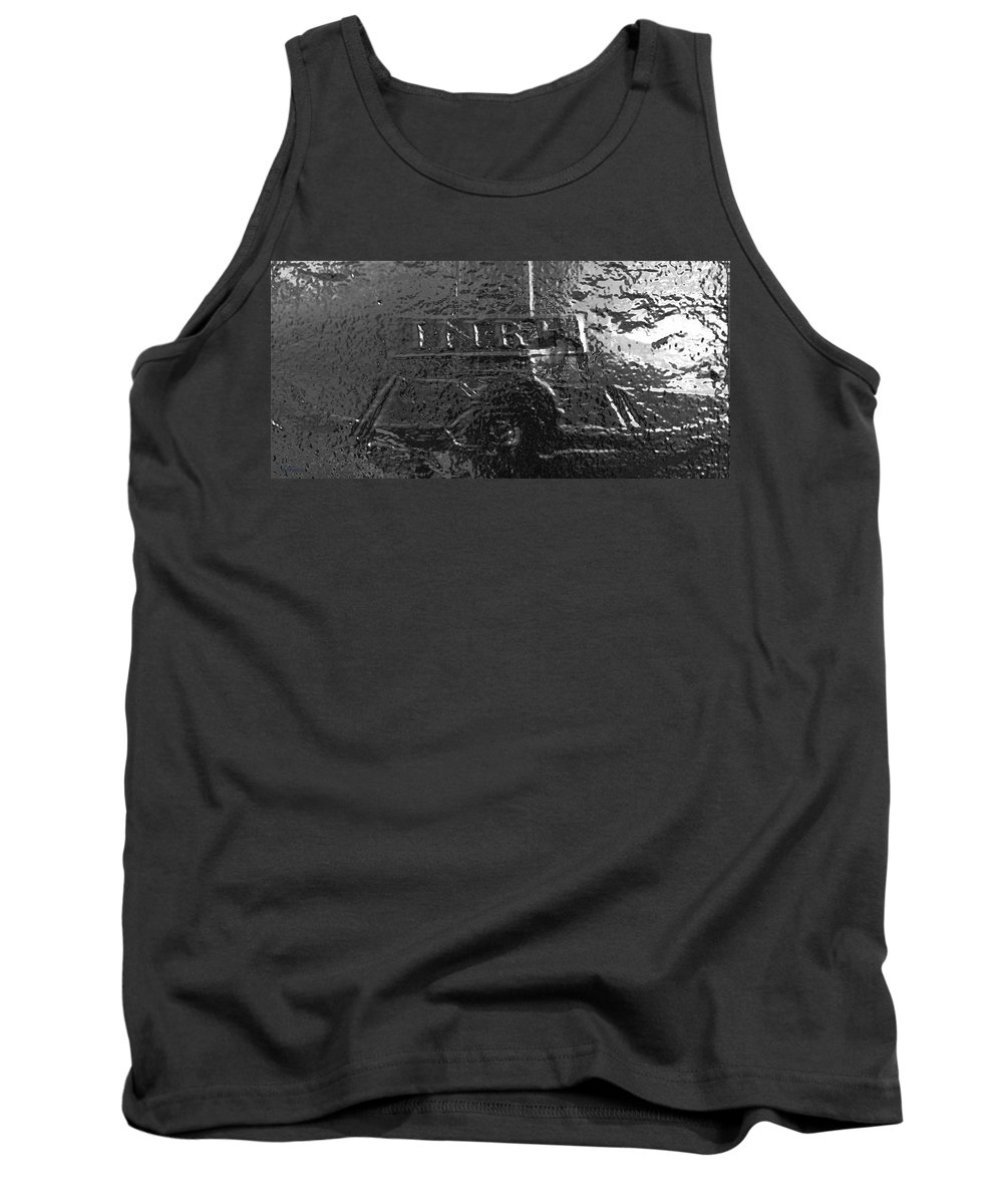 Christ Tank Top featuring the photograph Jesus On The Cross Metal Sculpture by George Pedro