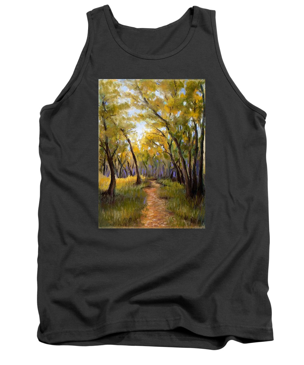 Landscape Tank Top featuring the pastel Just Before Autumn by Susan Jenkins