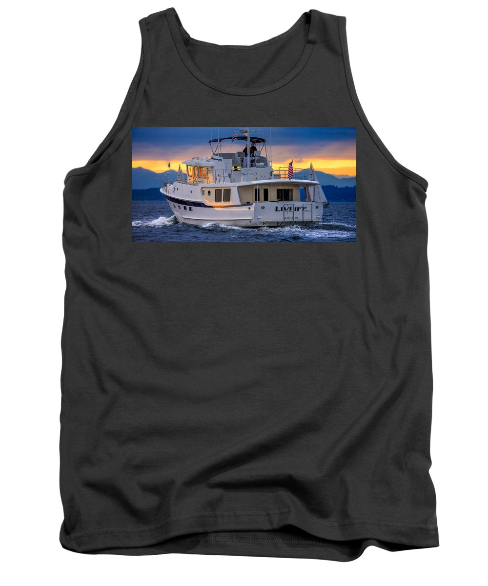 Kadey Krogen Yacht Tank Top featuring the photograph Kadey Krogen Yacht by Mike Penney