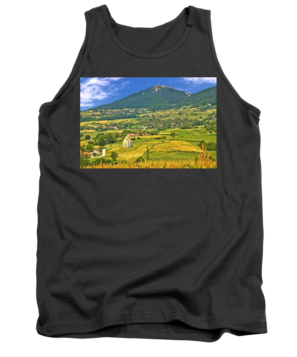 Croatia Tank Top featuring the photograph Kalnik Mountain Green Hills Scenery by Brch Photography
